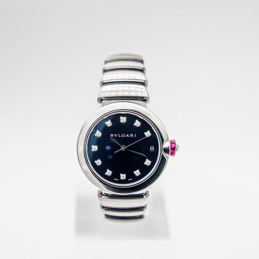 Bvlgari Lvcea Automatic Blue Dial Diamond Ladies Watch  102564