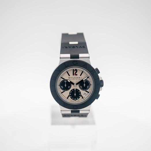 Bvlgari Aluminum Chronograph Automatic Grey Dial Men's Watch 103383