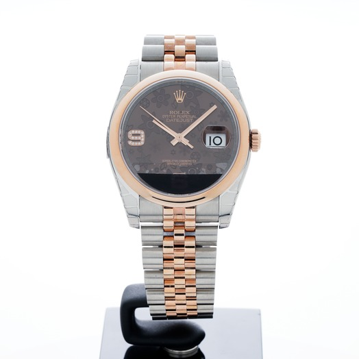 Rolex Datejust Two Tone Brown/18k rose gold Ø36mm