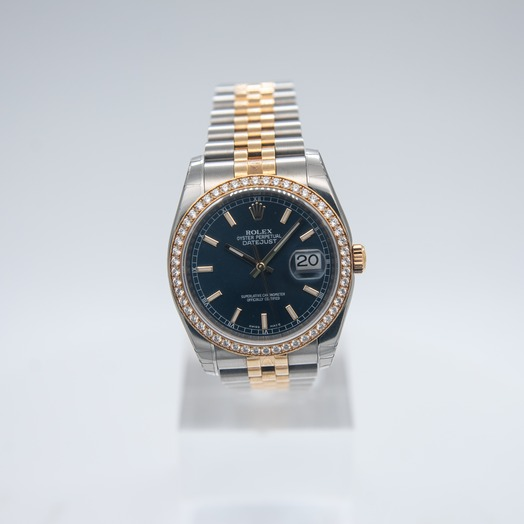 Rolex Datejust 36 18K Yellow Gold/Stainless Steel/Blue 36mm 116243 BLUE