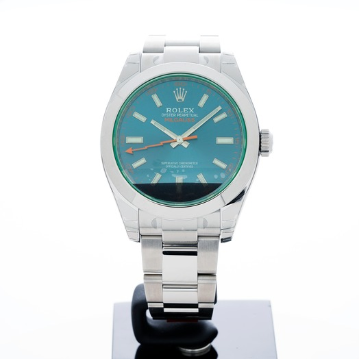 Rolex Milgauss Stainless Steel Automatic Blue Dial Men's Watch 116400 GV Blue/GV-Z