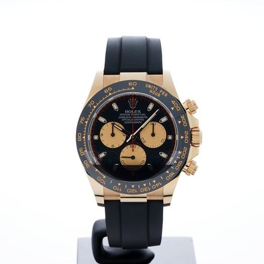 Rolex Cosmograph Daytona 18ct Yellow Gold Automatic Black Dial Men's Watch 116518LN-Bk-Cp