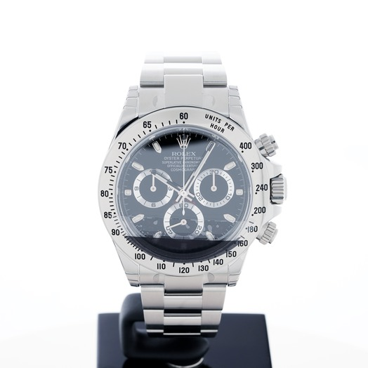 Rolex Cosmograph Daytona Stainless Steel Automatic Black Dial Men's Watch 116520 Black