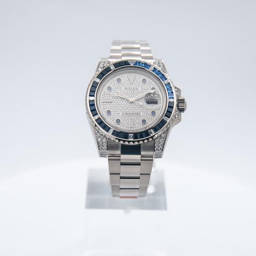 Rolex Rolex Submariner 18K white gold /diamond paved dial /40mm 116659 SABR