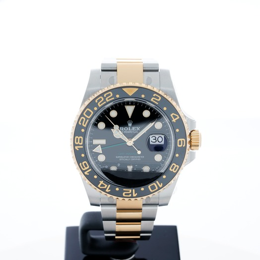 Rolex GMT-Master II 18kt Yellow Gold  Automatic Black Dial Automatic Men's Watch 116713 LN