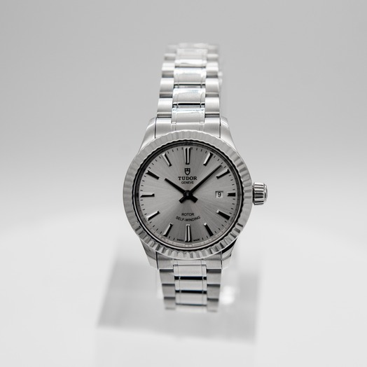 Tudor Style Swiss Stainless Steel Automatic Silver Dial Ladies Watch 12110-0001