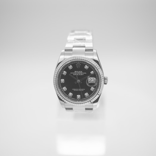 Rolex Datejust 36 Automatic Black Dial Diamond Indexes Ladies Jubilee Watch 126234-0028