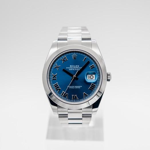 Rolex Datejust 41 Steel Automatic Blue Dial Men's Watch 126300-0017