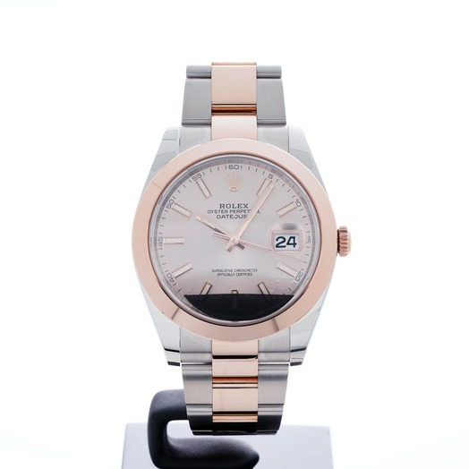 Rolex Datejust 41 Rolesor Everose Smooth / Oyster / Sundust 126301 Sundust Oyster