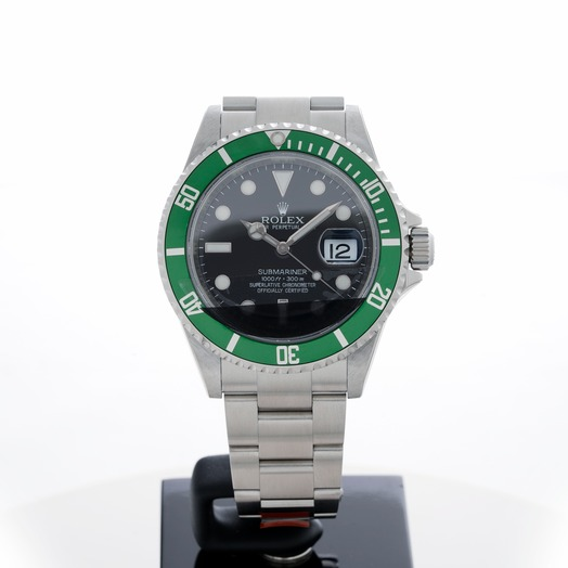 Rolex Submariner Automatic Chronometer Black Dial Men's Watch 16610 50anniv