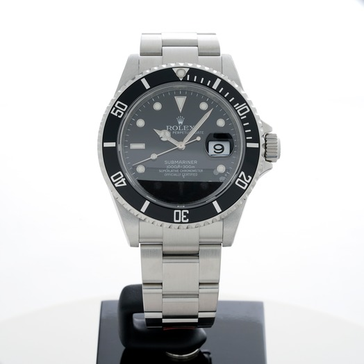 Rolex Submariner Date Black/Steel 40mm 16610 Black