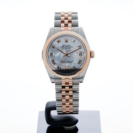 Rolex Datejust 31 Rolesor Everose Domed / Jubilee / MOP Roman 178241-0076G