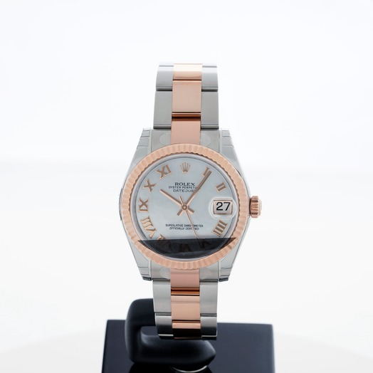 Rolex Datejust 31 Rolesor Everose Fluted / Oyster / White Roman 178271/4