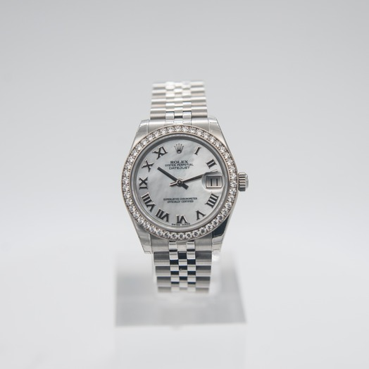 Rolex Datejust 31 Steel And 18ct White Gold Automatic Mother Of Pearl Dial Ladies Watch 178384-0012