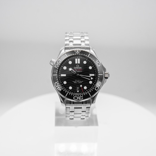 Omega Seamaster Diver 300 M Co-Axial Master Chronometer 42mm Automatic Black Dial Steel Men's Watch 210.30.42.20.01.001