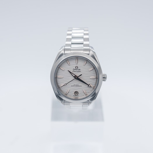Omega Seamaster Aqua Terra 150M Co‑Axial Master Chronometer 34 mm Automatic Silver Dial Steel Ladies Watch 220.10.34.20.02.001