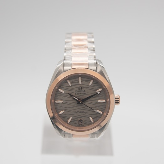 Omega Seamaster Aqua Terra 150M Co‑Axial Master Chronometer 34mm Automatic Grey Dial Gold Ladies Watch 220.20.34.20.06.001