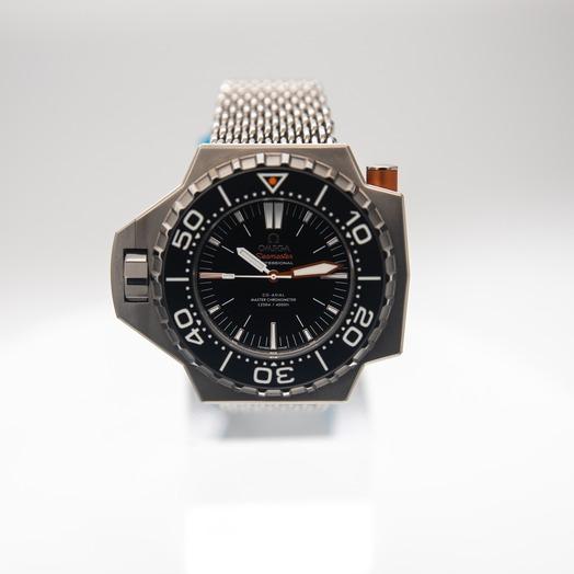 Omega Seamaster Ploprof 1200M Co-Axial Master Chronometer 55x48mm Automatic Black Dial Titanium Men's Watch 227.90.55.21.01.001