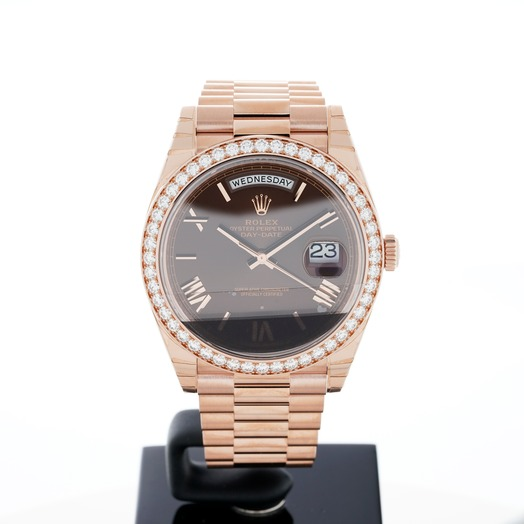 Rolex Day-Date 40 Chocolate 18k Pink Gold 40mm 228345RBR-0009