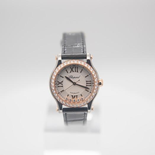 Chopard Happy Sport 30 mm Automatic White Dial Diamonds Ladies Watch 278573-6003