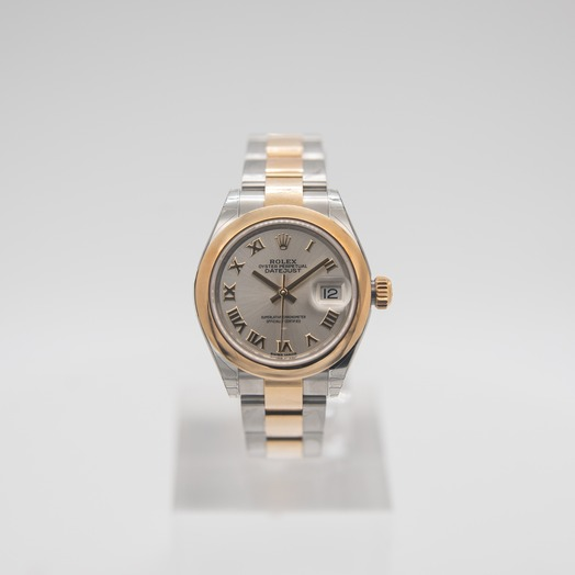 Rolex Oyster Perpetual Steel And 18ct Yellow Gold Automatic Silver Dial Ladies Watch 279163-0006
