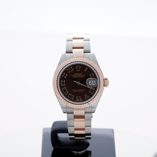 Rolex Lady-Datejust Steel And 18ct Everose Gold Automatic Chocolate Dial Ladies Watch 279171-0009