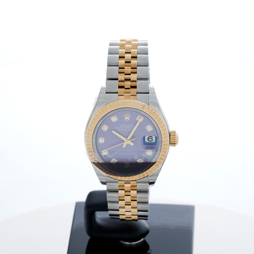 Rolex Lady Datejust Lavender Diamond Dial Steel and 18K Yellow Gold Automatic Ladies Watch 279173LVDJ 279173-0017G