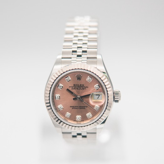 Rolex Lady Datejust Automatic Pink Dial Diamond Indexes Ladies Jubilee Watch 279174-0003