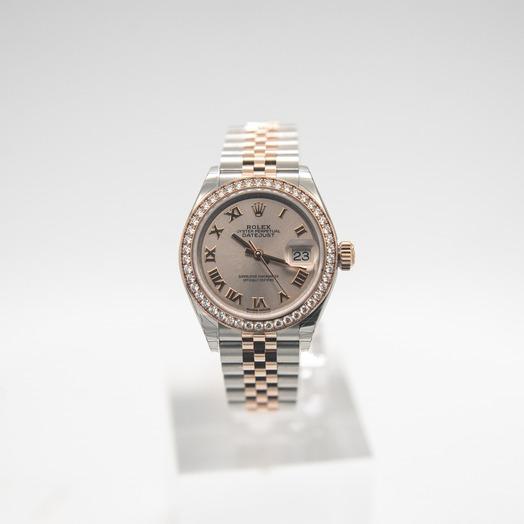 Rolex Lady-Datejust 28 Sundust Roman Steel/18k Everose Gold Dia 28mm 279381RBR-0005G
