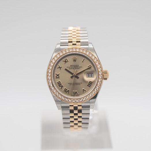 Rolex Lady-Datejust Steel And 18ct Yellow Gold Automatic Champagne Dial Ladies Watch