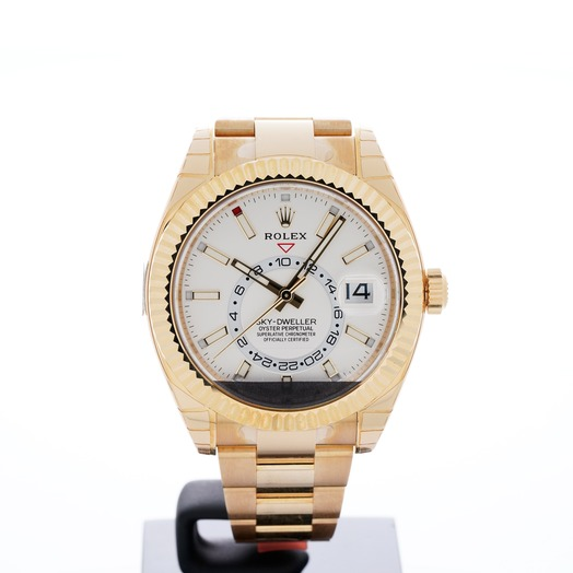 Rolex Sky-Dweller Yellow Gold / White 326938-0005