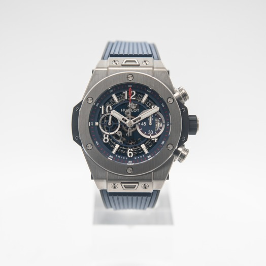 Hublot Big Bang Unico Titanium Blue Automatic Blue Dial Men's Watch 411.NX.5179.RX