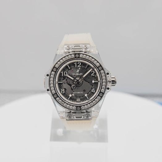 Hublot Big Bang One Click Sapphire Diamonds Automatic Skeleton Dial Men's Watch 465.JX.4802.RT.1204
