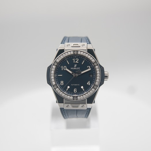 Hublot Big Bang One Click Steel Blue Diamonds Automatic Blue Dial Steel Ladies Watch 465.SX.7170.LR.1204