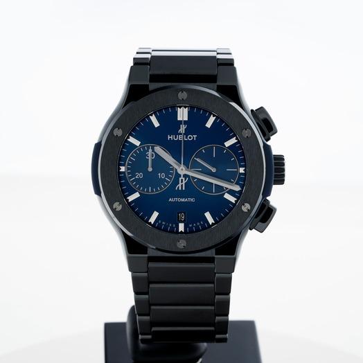 Hublot Classic Fusion Chronograph Ceramic Blue Bracelet Automatic Blue Dial Men's Watch 520.CM.7170.CM