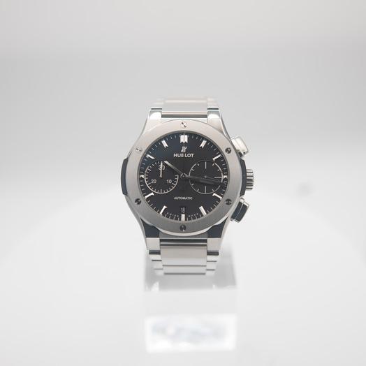 Hublot Classic Fusion Chronograph Titanium Bracelet Automatic Black Dial Men's Watch 520.NX.1170.NX
