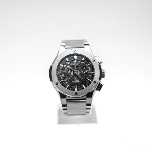 Hublot Classic Fusion Aerofusion Titanium Bracelet Automatic Skeleton Dial Men's Watch 528.NX.0170.NX