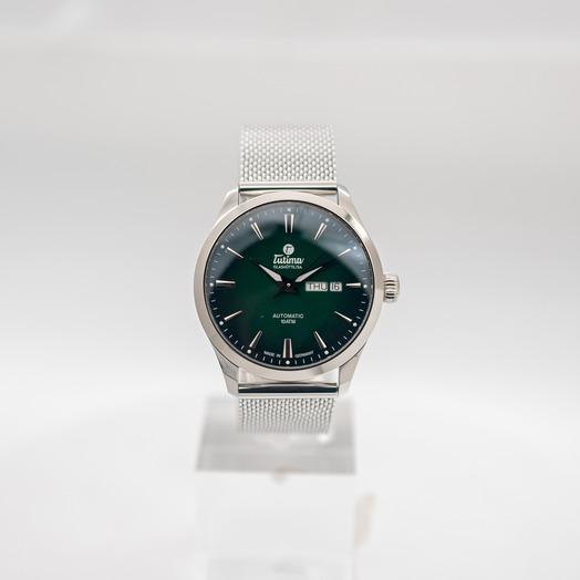 Tutima Glashuette Sky Automatic Green Dial Men's Watch 6105-24