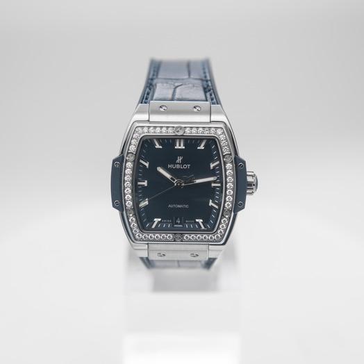 Hublot Spirit Of Big Bang Titanium Blue Diamonds Automatic Blue Dial Men's Watch 665.NX.7170.LR.1204