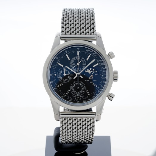 Breitling Transocean Chronograph 1461 Stainless Steel / Black / Milanese A1931012/BB68