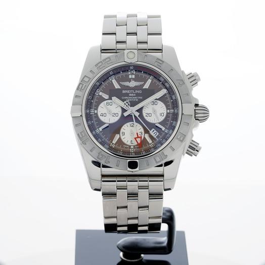 Breitling Chronomat 44 GMT Stainless Steel / Metallica Brown / Bracelet AB042011/Q589