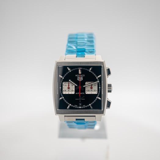 TAG Heuer Monaco Calibre Heuer 02 Automatic Black Dial Men's Watch CBL2113.BA0644