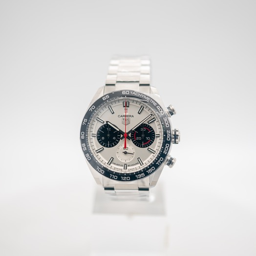 TAG Heuer Carrera Calibre Heuer 02 160 Years Anniversary Chronograph Automatic Grey Dial Men's Watch CBN2A1D.BA0643