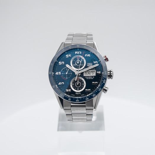 TAG Heuer Carrera Calibre 16 DD Automatic Chronograph Blue Dial Men's Watch CV2A1V.BA0738