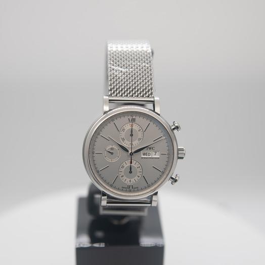 IWC Portofino Chronograph Automatic Silver Dial Men's Watch IW391028