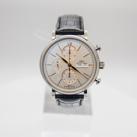 IWC Portofino Chronograph Edition 150 Years Automatic Silver Dial Men's Watch IW391031