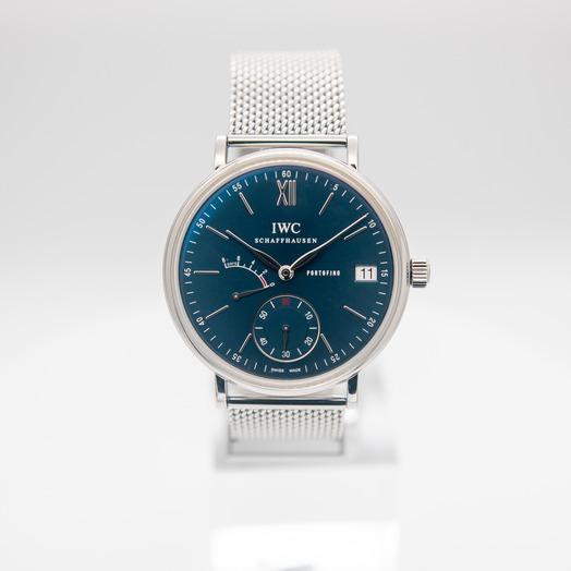IWC Portofino Hand-Wound Eight Days Manual-winding Blue Dial Men's Watch IW510116