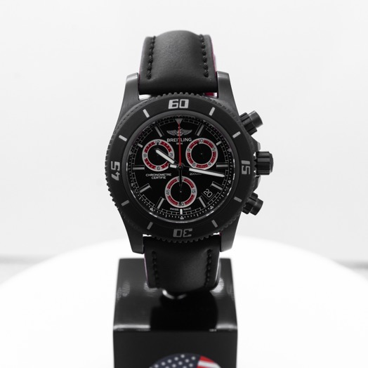 Breitling Superocean Chronograph Black Dial Men's Limited Edition Watch 46mm M73310B7/BB72