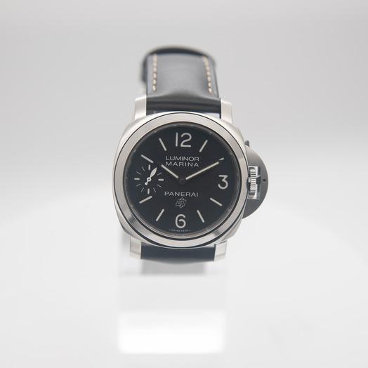 Panerai Luminor Logo Manual-winding Black Dial 44 mm Men's Watch PAM00776