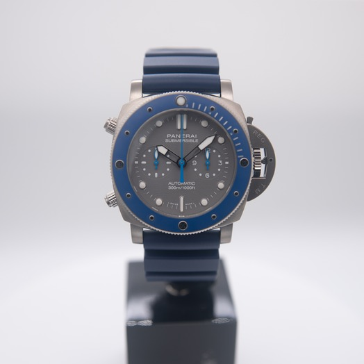 Panerai Submersible Chrono Guillaume Nery Edition 47mm Automatic Grey Dial Men's Watch PAM00982